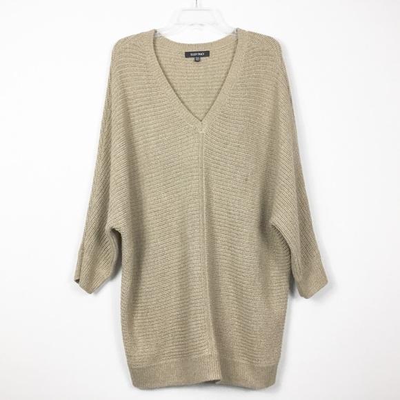 Ellen Tracy Sweaters - Ellen Tracy Oversized Long Tan Sweater